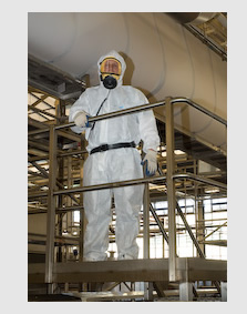 Dressed for asbestos removal